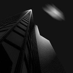 Light (AO-photos) Tags: windows light blackandwhite building tower art architecture clouds noiretblanc lumire fine ladfense