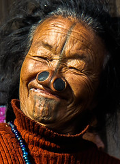 'Appy Apatani (rob of rochdale) Tags: travel portrait woman india candid indian tribal tribe neindia arunachalpradesh ziro apatani noseplugs robofrochdale robhaich