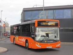 East Yorkshire 395 BU16OYH 'Kitty' Hull Interchange on 350 (1280x960) (dearingbuspix) Tags: kitty 395 eastyorkshire eyms humberfastcat bu16oyh