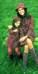 Mother and Daughter (jerkingchicken) Tags: rainwear raingear sixtiesfashion