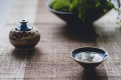 Taste Zen In Tea (Picocoon) Tags: cup ceramic asian tea chinese peaceful zen bonsai serene wabisabi eastern chill tranquil incense tenmoku