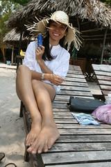 2016-03-09 Phu Quoc Island, Vietnam012 (HAKANU) Tags: sea beach beautiful smile hat smiling lady female island sand asia shoreline beachlife vietnam phuong wife strawhat phuquoc phuquocisland wifeah