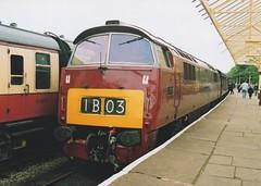 """British Railways Maroon Class 52, D1015 """"Western Champion"""" (37190 """"Dalzell"""") Tags: br maroon western elr maybach ramsbottom britishrailways d1015 eastlancashirerailway dieselhydraulic class52 westernchampion dieselgala whizzo"""