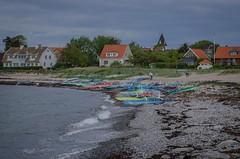 Lunch break for windsurfers in Viken (frankmh) Tags: beach landscape skne sweden outdoor windsurfing viken