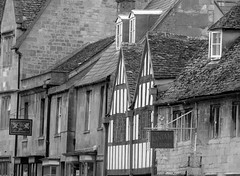 chipping campden, the cotswolds (gerben more) Tags: old uk houses england window monochrome town blackwhite timbered