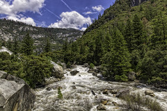 Merced River in Yosemite National Park (punahou77) Tags: california park trees mountain mountains nature water clouds river landscape nationalpark landmark pines yosemite yosemitenationalpark wilderness sierras sierranevada mercedriver stevejordan nikond7100 punahou77