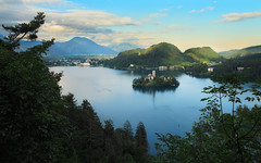 Lake Bled (Dejan Hudoletnjak) Tags: sunset lake church landscape colorful bled isle lakebled bledisle lakebledbledslovenia