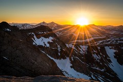 Rocky Mountain Sunset (rogerbrownphoto) Tags: sunset mountains colorado 14er mtevans