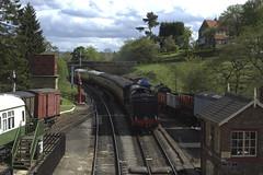 Goathland Station approach LNER Q6 0-8-0 No. 63395 (mark_fr) Tags: station br no north railway moors standard 260 pickering goathland yorks levisham halt 4mt grosmont nymr lner 080 q6 76079 newtondale 264t 63395 80135