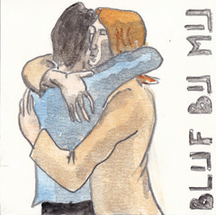 # 151 (30-05-2016) (h e r m a n) Tags: love illustration hug couple drawing zwembad cardboard herman carton liefde illustratie bock karton oosterhout tekening blijf stel 10x10cm omhelzing tegeltje lievde 3651tekenevent blijfbijmij