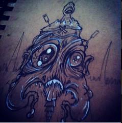 GetWeird Original Sketch (ZZFX) Tags: detail art film pencil dark painting paper weird sketch scary paint artist drawing vampire zombie character horror create concept spawn fx darkart spfx zzfx