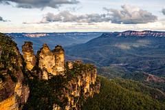 Three Sisters (Josh Hickinbotham) Tags: australia bluemountains canon7d threesisters mountains nature landscape