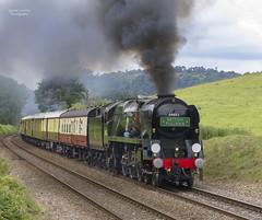 34052 at Albury (70C Photography) Tags: uk england june canon br outdoor trains surrey steam pullman 7d british railways albury 2016 surreyhills bulleid jamescummins 34052 lorddowding iconsofsteam