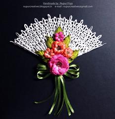 Floral Fan 1 (Nupur Creatives) Tags: heartfelt creations heartfeltcreations