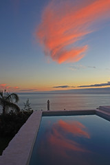 Pool Sunset (terri-t) Tags: sunset sky cloud reflection water pool swimming landscape islands spain canary lapalma tijarafe