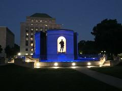 Viet Nam War Veteran's Memorial : Charleston WV: State Capitol Plaza (Chuck & Alice Riecks) Tags: westvirginia monuments nightscapes militaryhistory kanawhacountywv