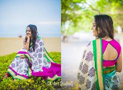 The Amazing girl (@K-Art StudioS) Tags: blue india cute green beach girl hair happy back sand journey kart kc cuteness chennai saree overloaded karthik beauiful karthikc incredibleindia kartstudios karthikchandrasekar