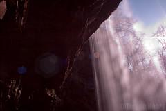 From Behind Henrhyd Waterfall (ScouseTiegan) Tags: wales river waterfall drop lensflare cascade 2012 powys henrhydfalls henrhydwaterfall waterfallcountry sgwdhenrhyd tieganneary highestwaterfallinsouthwales