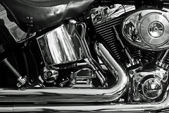 089/366 (local paparazzi (isthmusportrait.com)) Tags: blackandwhite bw white selfportrait black reflection texture me bike metal contrast prime iso200 pod shiny raw metallic pipes chrome motorcycle manual madisonwi gears chaps 2012 alloy nikond2h isthmus 50mmf2ai nometering danecountywisconsin 366project photoshopelements7 pse7 localpaparazzi redskyrocketman lopaps