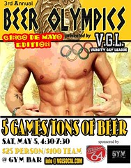 V.G.L. 3rd Annual GAY BEER OLYMPICS (gaywesthollywood) Tags: gay west sports los bars angeles hollywood featured