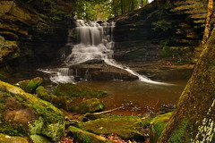 Honey Run Falls - Knox County, Ohio (VonShawn) Tags: longexposure nature waterfall nikon cascade circularpolarizer ndfilter supershot nikond90 ohiowaterfalls honeyrunfalls