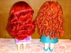 Toddler Brave Merida and Animators' Ariel 16'' Dolls Standing - Rear View (drj1828) Tags: ariel store toddler doll dress little disney collection merida brave 16 mermaid rapunzel animators deboxed