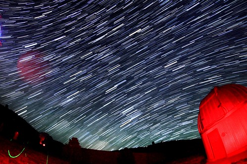 Star Trails at the observatory!