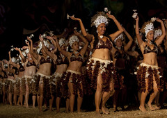 Traditional Dances During Tapati Festival In Hanga Roa, Easter Island, Chile (Eric Lafforgue) Tags: chile show color colour latinamerica southamerica horizontal night dance women chili pacific feather dancer danse tribal worldheritagesite celebration pacificocean nightview sensuality performer easterisland karikari ethnicity headdress traditionalculture colorphoto rapanui isladepascua hangaroa southpacificocean traditionaldancing traditionalfestival 2828  exoticism largegroupofpeople  onlywomen tapatife
