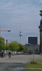 TV Tower - Fernsehturm with Pope's Revenge cross, Berlin - June 2012 (Pub Car Park Ninja) Tags: berlin beer june germany university die cross side grand des reichstag german segway alexanderplatz fernsehturm bier jews tvtower murdered friedrichstrasse house concert 2012 juden zu fr currywurst library tucher memorial tower june memorial ermordeten east james briggs gallery berlin museum popesrevenge wall humboldt dome tv europe berlin gate university bear cathedral bike bierbike revenge dom bunker holocaust bier brandenburg berliner checkpoint charlie altes denkmal westin june2012 2012 europas hitlers holocaustmahnmal rache papstes popes reichstag
