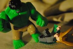 2012_0618 311.. *SMASH* (riffsyphon1024) Tags: macro june toy smash nikon lego god scene loki series recreation hulk puny avengers 2012 minifigure d3000 nikond3000 june2012