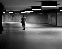 You're Leaving Me, Again! (Blue Rave) Tags: light people blackandwhite bw berlin male abandoned germany underground walking lost deutschland lights vanishingpoint blackwhite back europa europe solitude alone moody loneliness sad path walk candid empty illumination tunnel illuminated dude despair backside melancholy mate icc pathway 2012 bloke destinationunknown iccberlin candidphotos backsideinrhythm walkinginrhythm