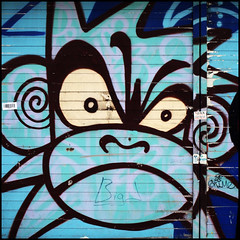 Mighty Mo (Alex Ellison) Tags: urban streetart shop graffiti monkey bc camden shutter mightymo northlondon burningcandy