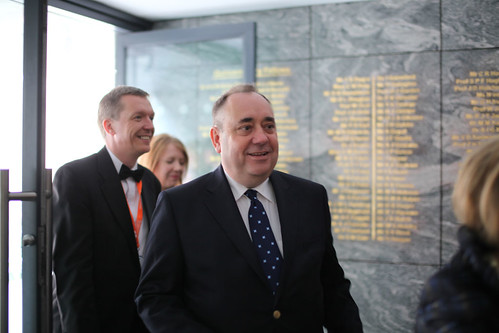 First Minister Alex Salmond at the Drinks Reception at the Surgeon's Hall