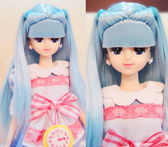 Marine with new blue Alice hair ^^ (possiblezen) Tags: blue castle marine doll factory dress little alice jenny chan kimono limited takara exclusive licca