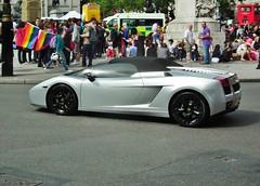 Lamborghini Gallardo (kenjonbro) Tags: uk england london westminster trafalgarsquare lamborghini charingcross sw1 kenjonbro fujihs10 worldpride2012