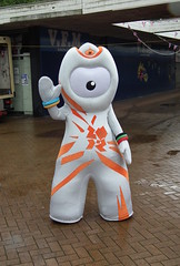 Wet Wenlock (dhcomet) Tags: orange mascot hatfield 2012 wenlock herts olympics2012