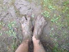 Muddy feet (eurekadest) Tags: male feet toes mud dirty barefoot soles muddy