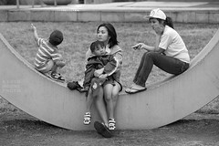 Tired (crabsandbeer (Kevin Moore)) Tags: family people bw children arc baltimore tired u innerharbor