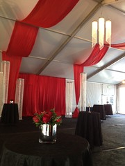 Red Swagging (Celadon Events) Tags: red design rental ceiling fabric drape elegant decor swag prop ceilingtreatment
