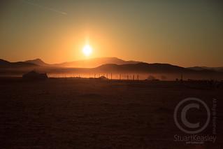 Mongolian Yurt at Sunrise