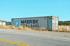 maersk sealand. honcut, ca. 2012. (eyetwist) Tags: california postprocessed america photoshop typography nikon exposure butte box transport stripe cargo container filter font type sealand americana sutter lettering norcal roadside nikkor capture asphalt northern shipping ribbed processed corrugated doubleyellow postprocessing landlocked yuba maersk buttecounty alienskin conex maersksealand graphiv nx2 yubasutter d7000 capturenx2 eyetwistkevinballuff nikond7000 18200mmf3556gvrii honcut