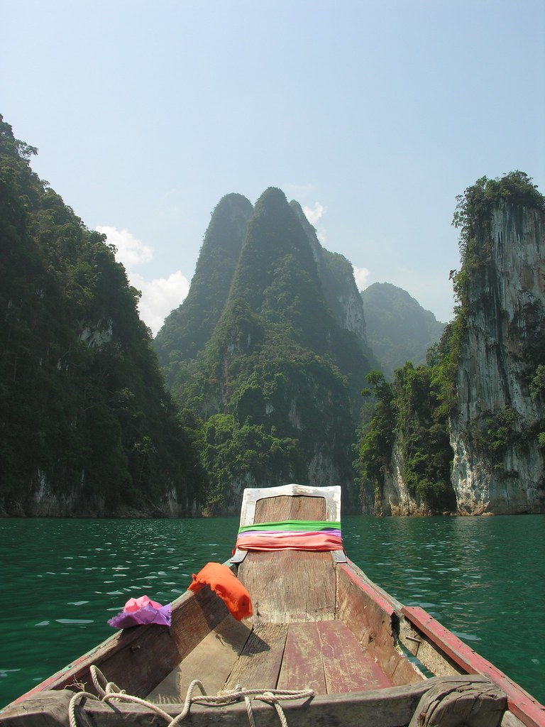 A boat with a view, Khao Sok National Park, Southern Thailand