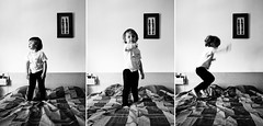 Bed Jumping ! (Jo*DNo) Tags: portrait hk baby white love kids canon eos 350d kid jump jumping bed bath time lumire enfants lit enfant fille bb lilie jeu sauter jeux