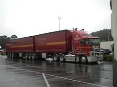 Bett's Kenworth K108 B Double (KW BOY) Tags: b tractor truck prime highway cab transport over australian double semi truckstop lorry rig hauling express bp hume coe mover trucking kw 2012 betts kenworth haulage aerodyne k108