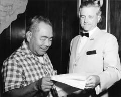 Gov. Bill Daniel and Juan Muna