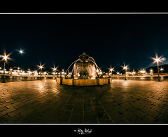 La fontaine (NiCo' ( vip2pak )) Tags: paris france night aperture nikon capital fisheye concorde capitale fontaine abstrait amature samyang d7000