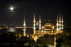 Minarets and Full Moon - Explore #12 (Yavuz Alper) Tags: old lighthouse architecture nikon mosque fullmoon explore dome empire 1750 historical moonlight sultan ottoman bluemosque tamron ramadan bosphorus minarets sultanahmet akis dua fatih marmara mimari ramazan balon obelisque liman fenerbahe minare bosporus haydarpaa ahmet kadky yansma sultanahmetcamii dikilita mehtap tarihi yakamoz mahya klah alem avlu hipodrom dolunay i ibadet atmeydan dalgakran minareler yalper ataehir ahrkap kubbeler d7000 6minare duaibadetinzdr 16091616