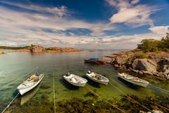 Stangholmen (Torehegg) Tags: sea summer panorama sun sunlight norway strand boats sommer northsea havn båt sunray sørlandet sjø grimstad austagder fevik stangholmen