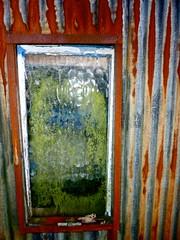 Garage Window. (annicariad) Tags: green window wales garage grunge cymru rusty mossy damp annicariad