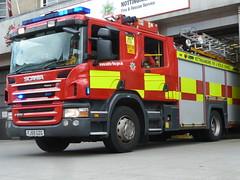 Nottinghamshre Fire & Rescue Service Scania P270 Appliance Turnout FJ59 GZG (NottsEmergency) Tags: nottingham blue rescue fire lights pier central led yelp hilo siren nottinghamshire scania bullhorn firerescue notts p270 rotater scaniap270